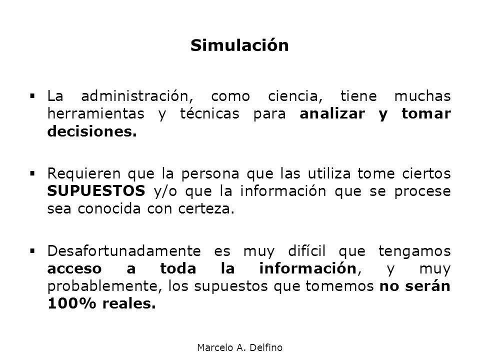 Marcelo A. Delfino La administración, como ciencia, tiene muchas herramientas y técnicas para analizar y tomar decisiones. Requieren que la persona qu