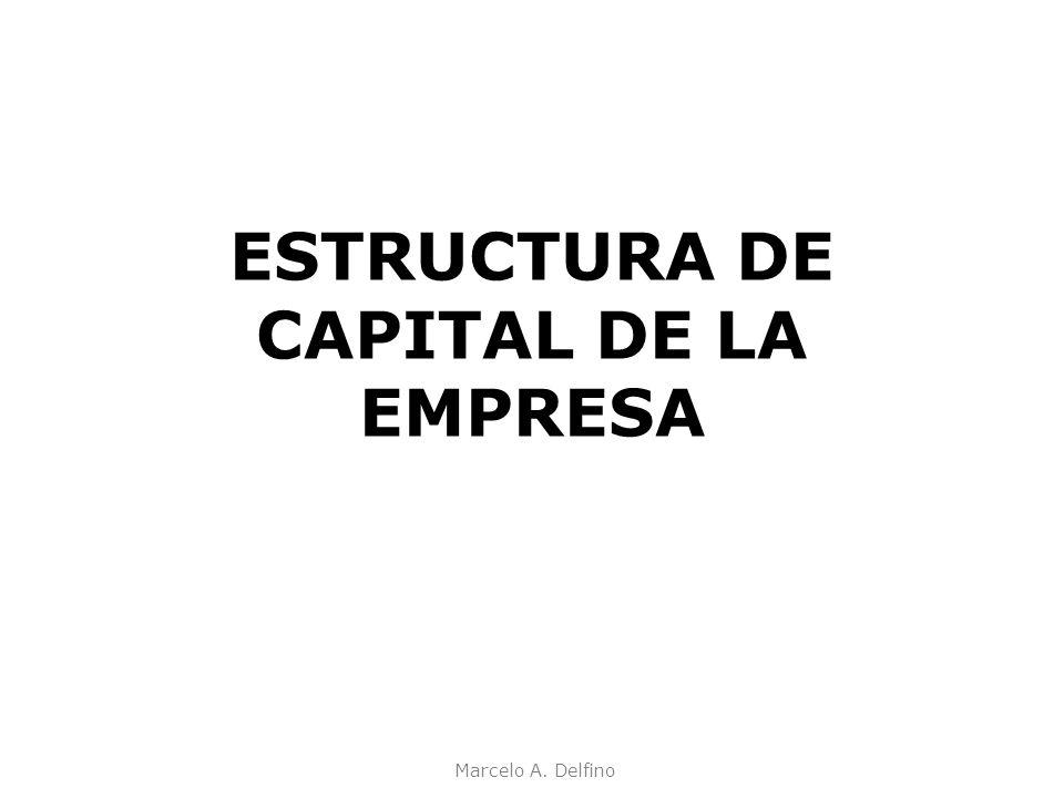 Marcelo A. Delfino ESTRUCTURA DE CAPITAL DE LA EMPRESA