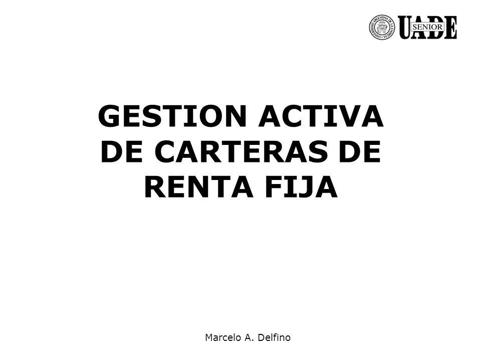 Marcelo A. Delfino GESTION ACTIVA DE CARTERAS DE RENTA FIJA