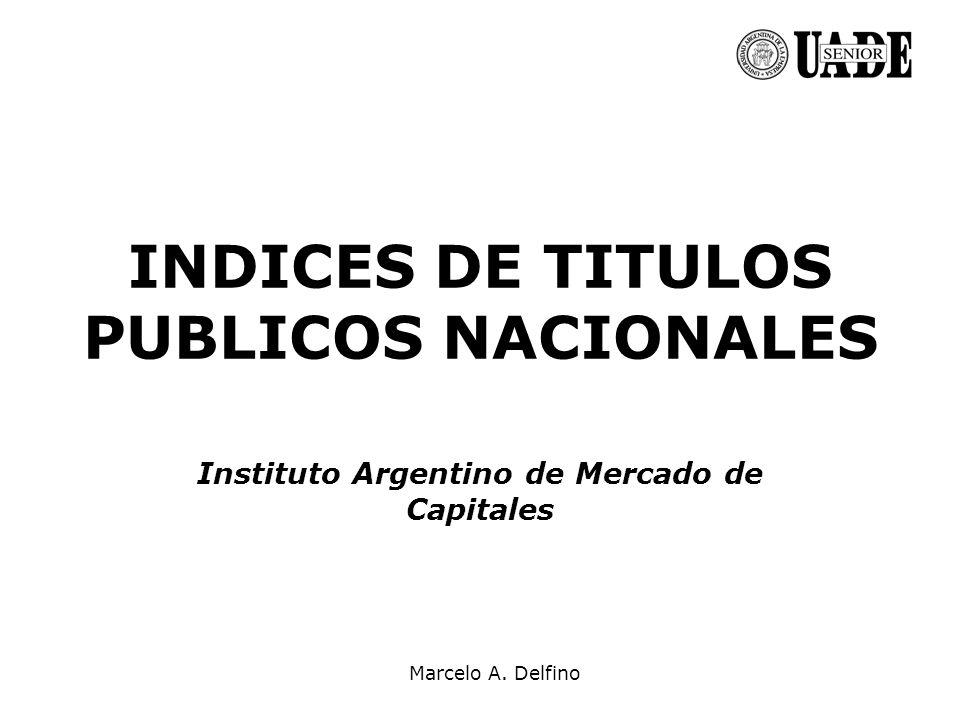 Marcelo A. Delfino INDICES DE TITULOS PUBLICOS NACIONALES Instituto Argentino de Mercado de Capitales