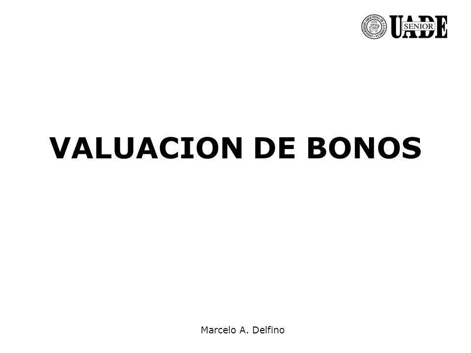 Marcelo A. Delfino VALUACION DE BONOS