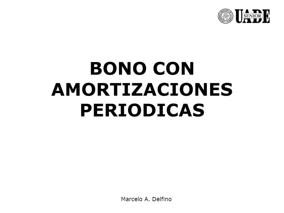 Marcelo A. Delfino BONO CON AMORTIZACIONES PERIODICAS