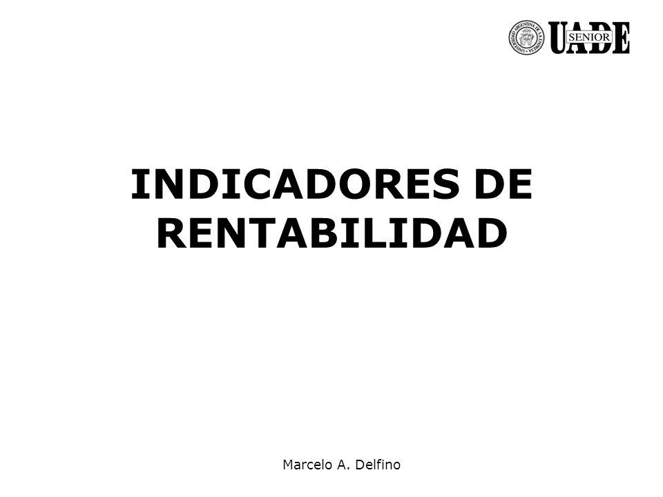 Marcelo A. Delfino INDICADORES DE RENTABILIDAD
