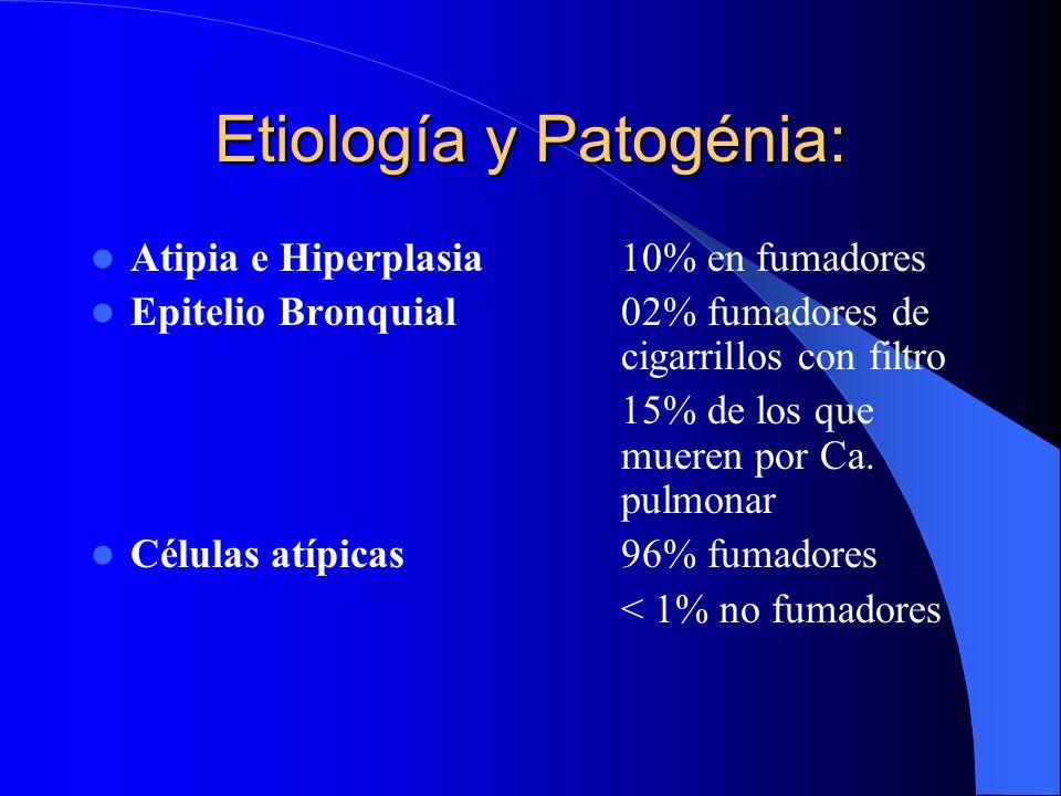 Etiología y Patogénia: Agentes iniciadores (hidrocarburos aromáticos policíclicos del tipo de Benzopireno) Agentes promotores (derivados del Fenol) El
