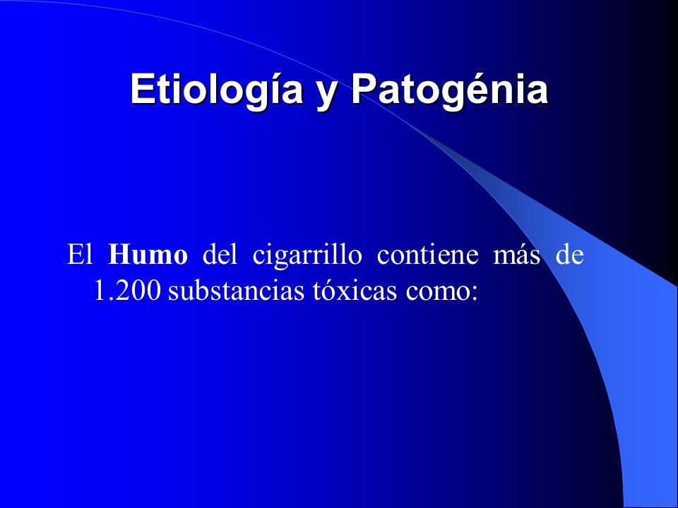 1.- Tabaco Cantidad de consumo / diario Tendencia a inhalar el humo Duración del habito de fumar Los estudios epidemiológicos