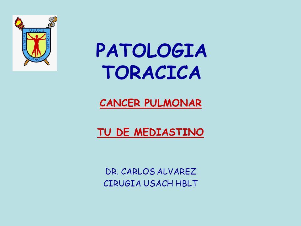 PATOLOGIA TORACICA CANCER PULMONAR TU DE MEDIASTINO DR. CARLOS ALVAREZ CIRUGIA USACH HBLT