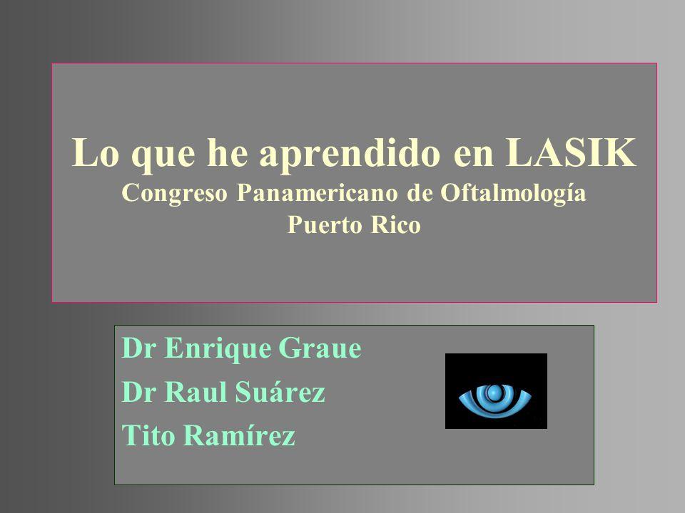 Lo que he aprendido en LASIK Congreso Panamericano de Oftalmología Puerto Rico Dr Enrique Graue Dr Raul Suárez Tito Ramírez