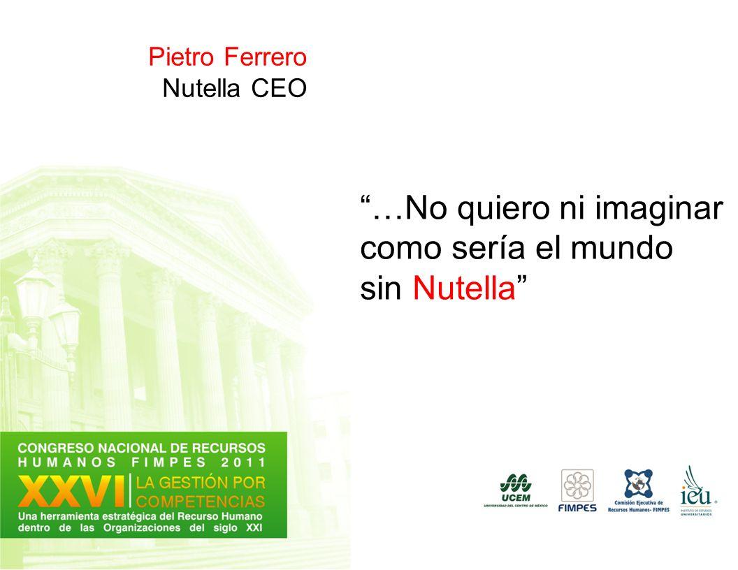 Pietro Ferrero Nutella CEO …No quiero ni imaginar como sería el mundo sin Nutella