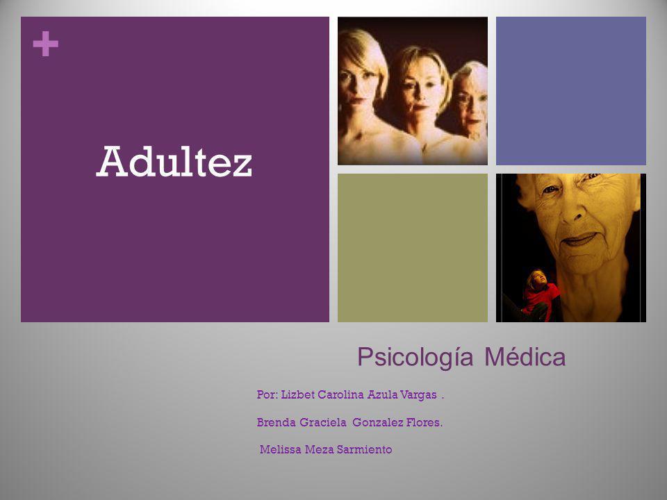 + Psicología Médica Por: Lizbet Carolina Azula Vargas. Brenda Graciela Gonzalez Flores. Melissa Meza Sarmiento Adultez