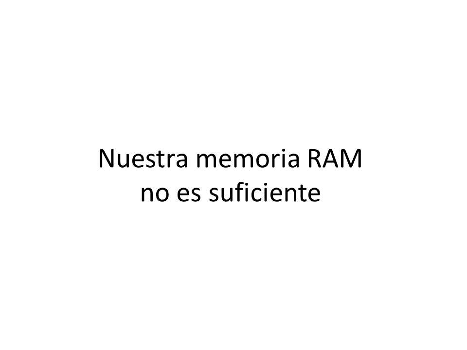 Nuestra memoria RAM no es suficiente