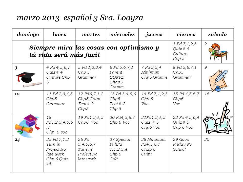 marzo 2013 español 3 Sra.