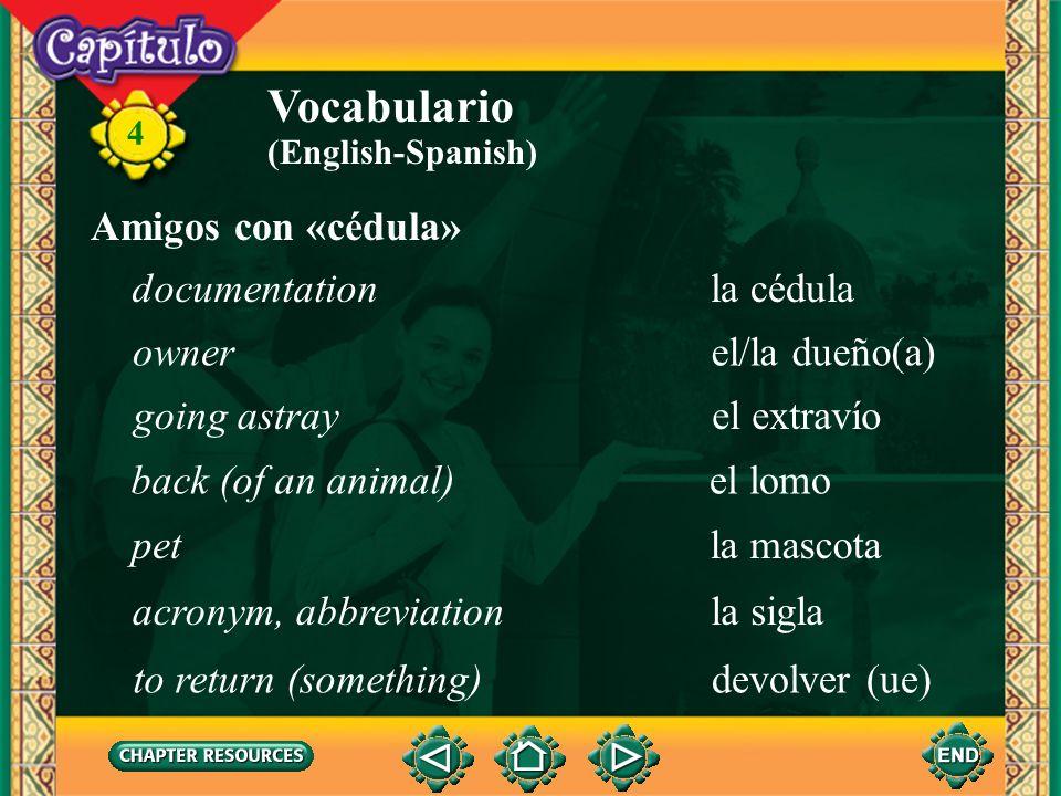 4 Vocabulario desearto want, wish efectuarseto take place fallecerto die felicitarto congratulate festejarto celebrate Anuncios sociales (English-Span