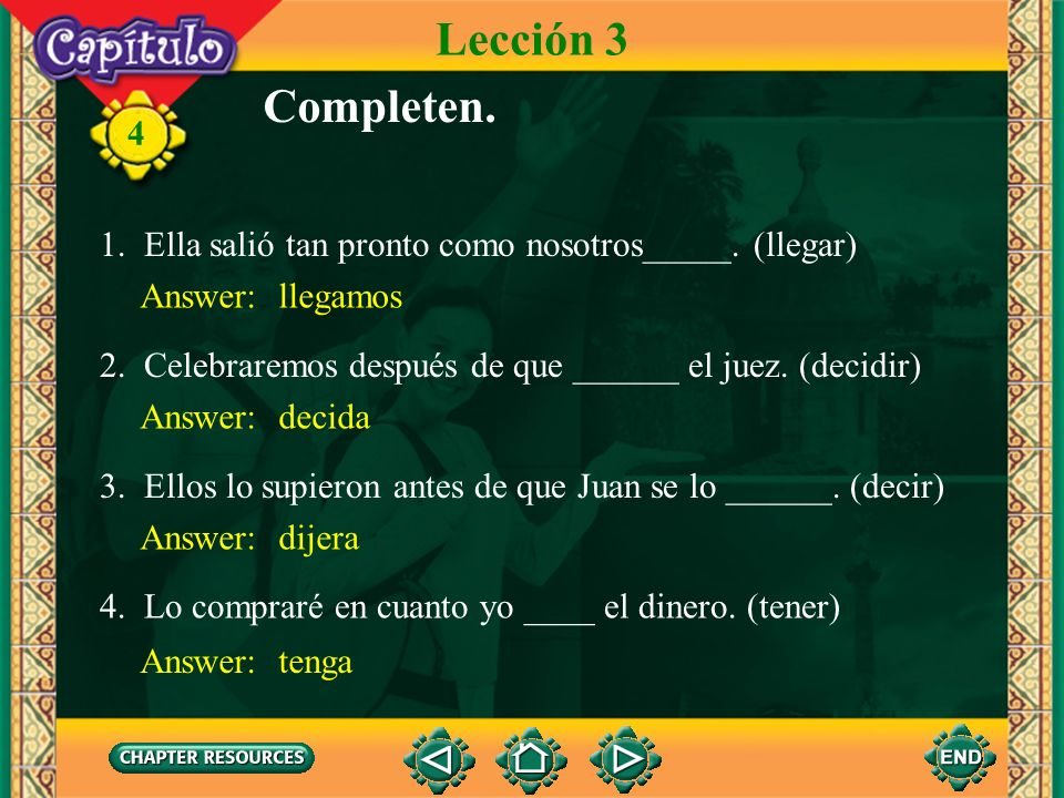 4 3. The conjunction antes de que, before, is an exception. Antes de que is always followed by the subjunctive. The imperfect subjunctive is used afte