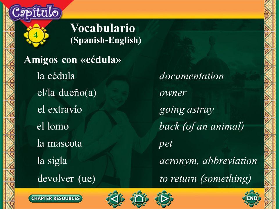 4 Vocabulario desearto want, wish (Spanish-English) efectuarseto take place fallecerto die felicitarto congratulate festejarto celebrate Anuncios soci