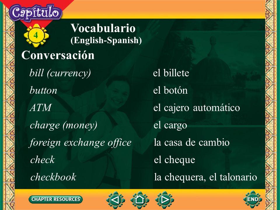 4 Vocabulario colgar (ue)to hang, hangup soler (ue)to be accustomed to, tend to trasladarto transfer, move (English-Spanish)
