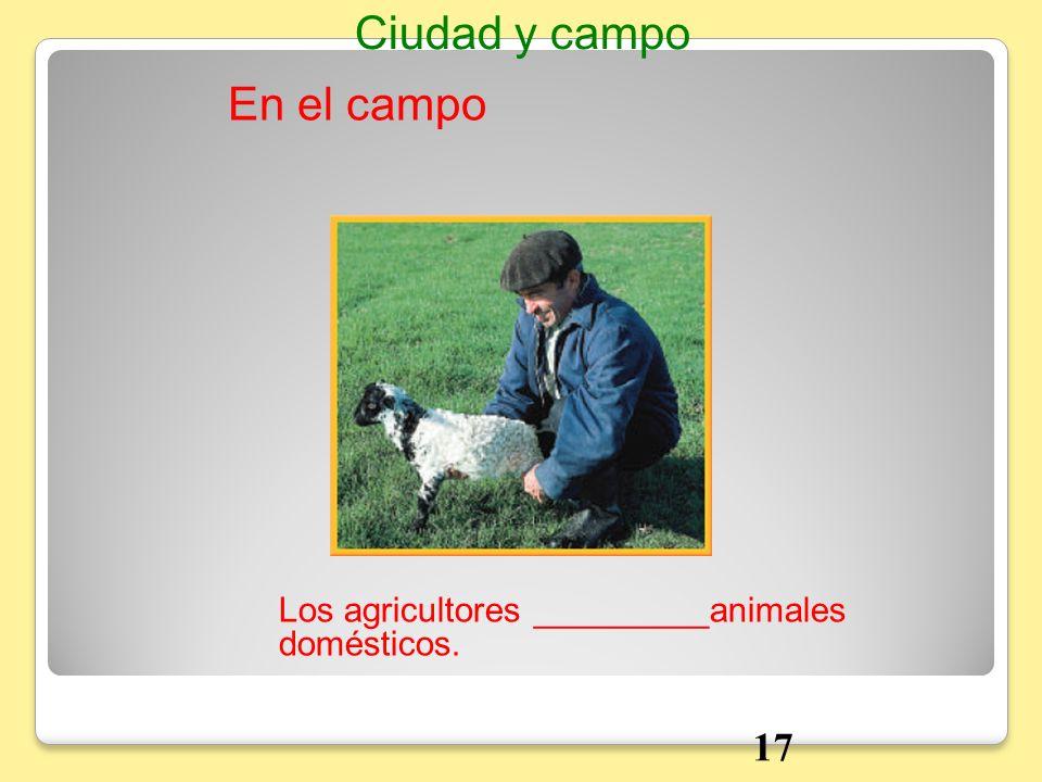 En el campo Ciudad y campo Los agricultores _________animales domésticos. 17