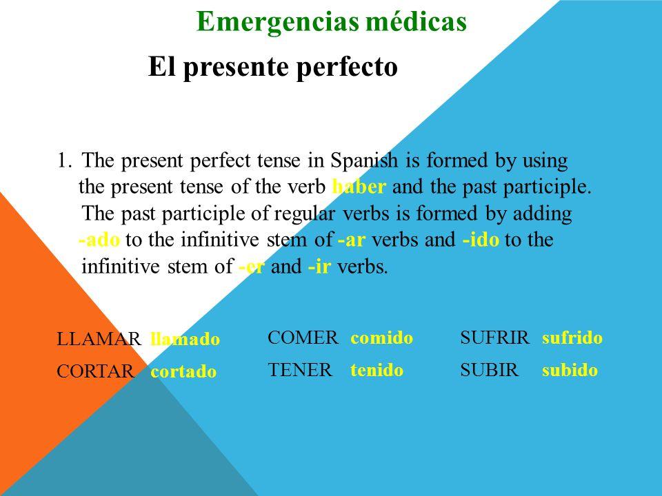 Pareen. c Emergencias médicas 1. ___ La enfermera… 2. ___ El cirujano ortopédico… 3. ___ La médica… 4. ___ El técnico… a. cierra la herida con puntos.