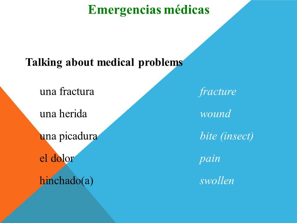 el/la médico(a)doctor Talking about medical professionals Vocabulario Emergencias médicas el/la cirujano(a) ortopédico(a) orthopedic surgeon el/la enf