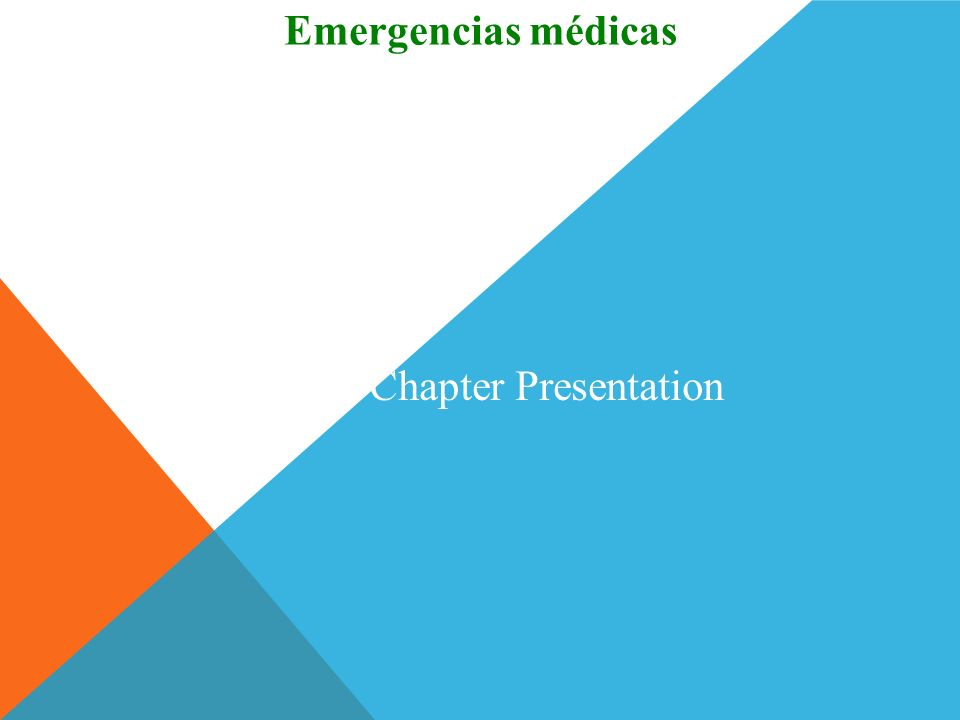 Emergencias médicas To transfer images to your own PowerPoint ® follow the following steps: Open the Resource file within the chapter file from the CD