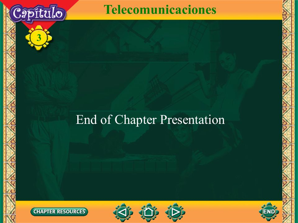 3 Telecomunicaciones To transfer images to your own PowerPoint ® follow the following steps: Open the Resource file within the chapter file from the C