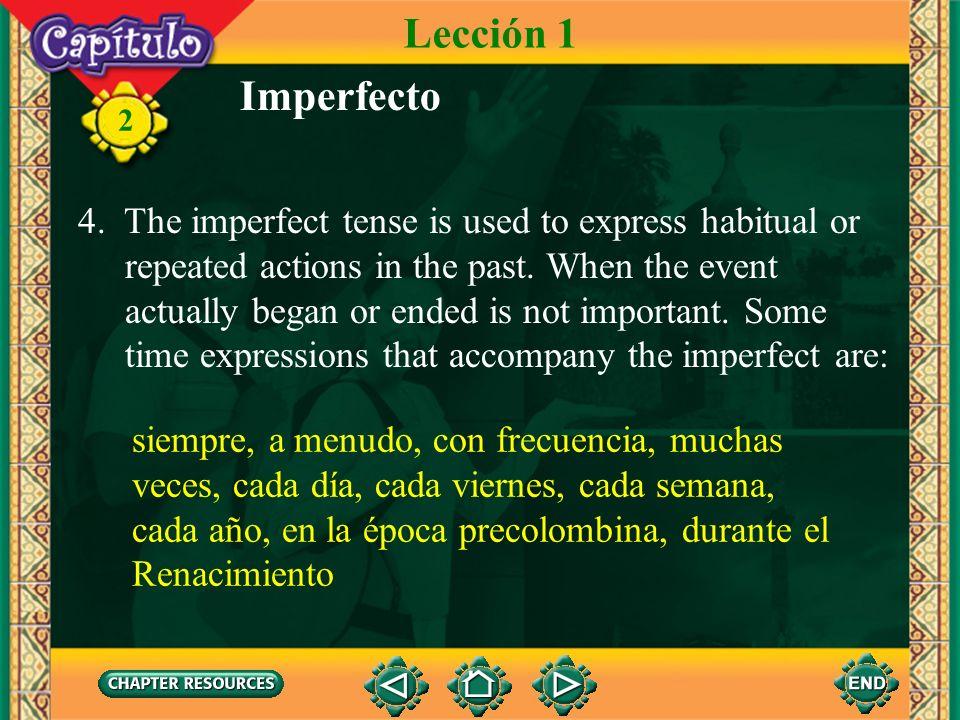 2 Imperfecto 3. The following verbs are the only irregular verbs in the imperfect tense. iba era veía ibas eras veías iba era veía íbamos éramos veíam