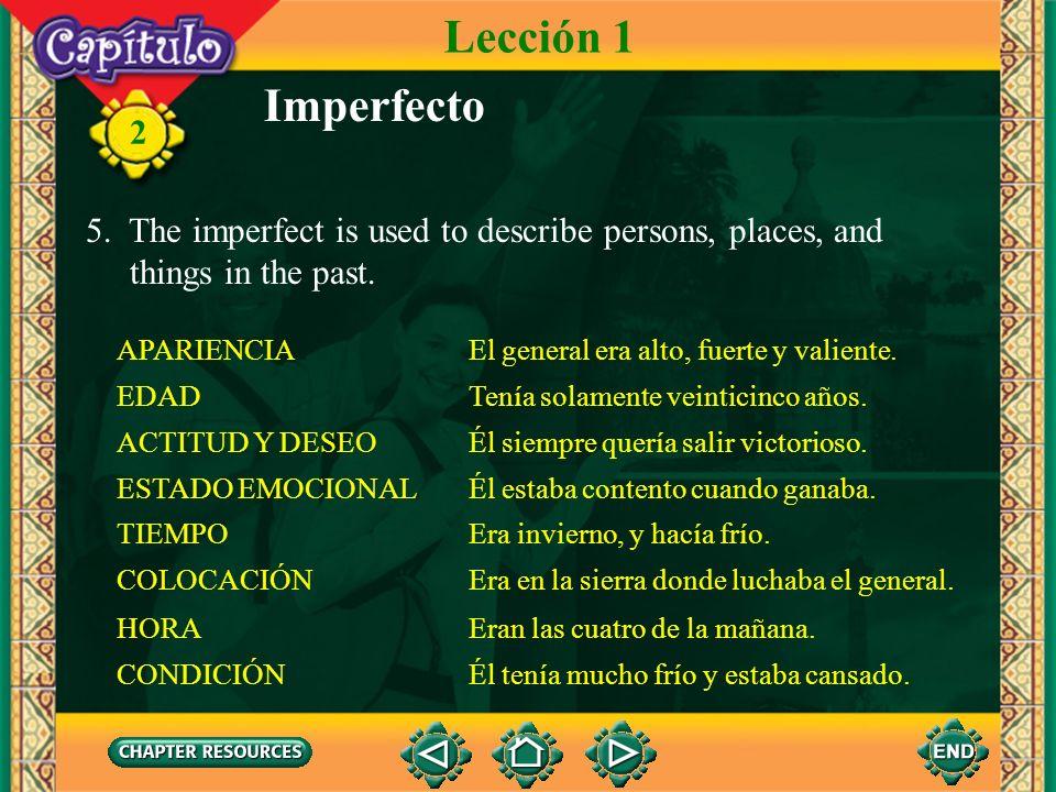 2 Imperfecto En la época precolombina, los incas hablaban quechua. La profesora de español siempre nos hablaba en español en clase. Su base de sustent