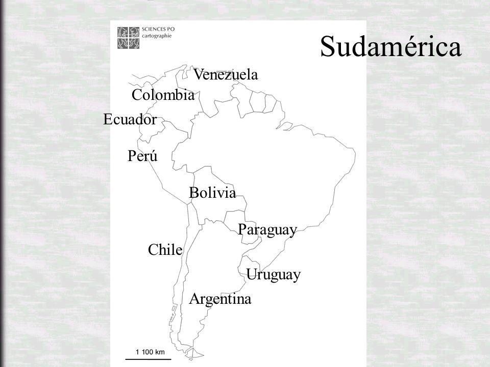 Venezuela Colombia Ecuador Perú Bolivia Paraguay Chile Uruguay Argentina Sudamérica