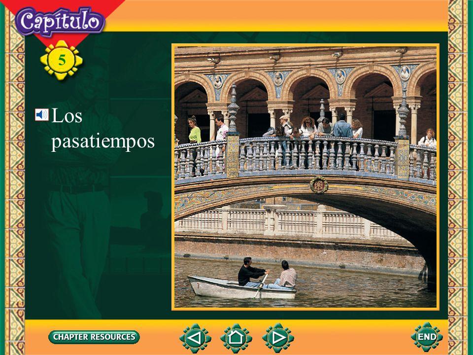 5 Vocabulario Los pasatiempos el globoballoon Talking about activities in the park el heladoice cream la piraguacrushed ice with syrup over it (English-Spanish)