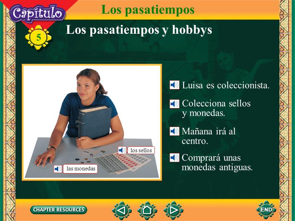 5 Los pasatiempos y hobbys Luisa es coleccionista.