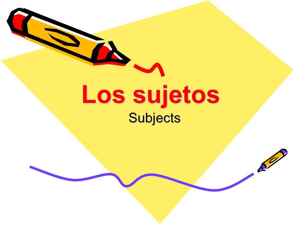 Los sujetos singulares Yo = I Tú = You (informal) Él = he / Ella = she / Usted (ud) = you (formal)