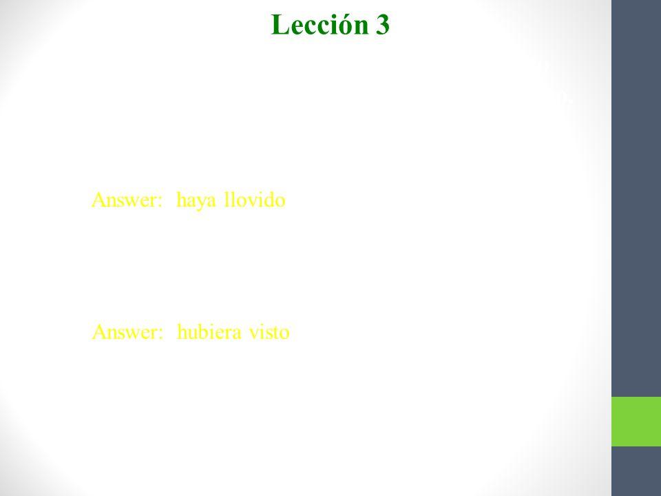 Completen con el presente perfecto o el pluscuamperfecto del subjuntivo. Lección 3 1. Es posible que ellos ya __________ con José Antonio. (hablar) An