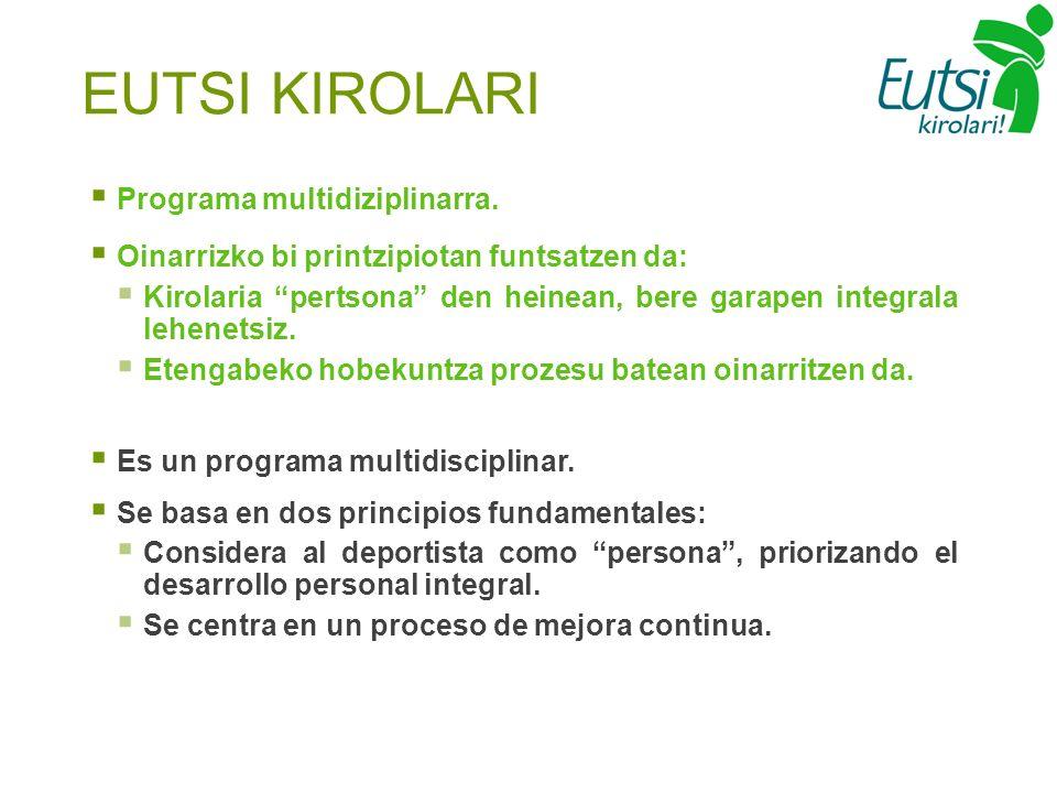 Programa multidiziplinarra.