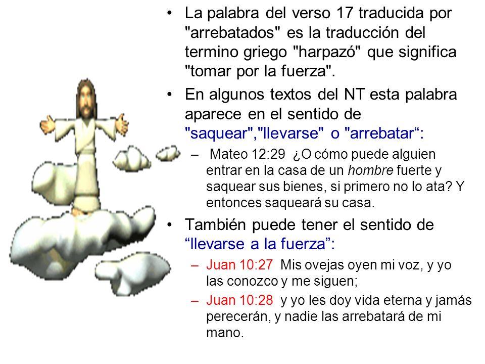 La palabra del verso 17 traducida por