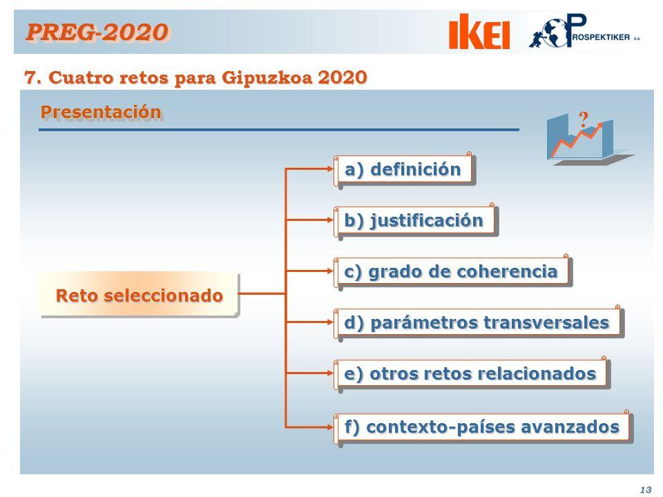 12 6. Definición de los retos estratégicos seleccionados PREG-2020PREG-2020 el fenómeno de la violencia: han manifestado que más que establecerse como