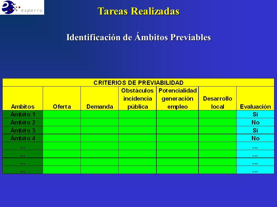 Identificación de Ámbitos Previables Tareas Realizadas