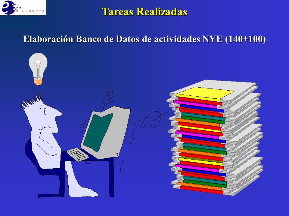 Elaboración Banco de Datos de actividades NYE (140+100) Tareas Realizadas