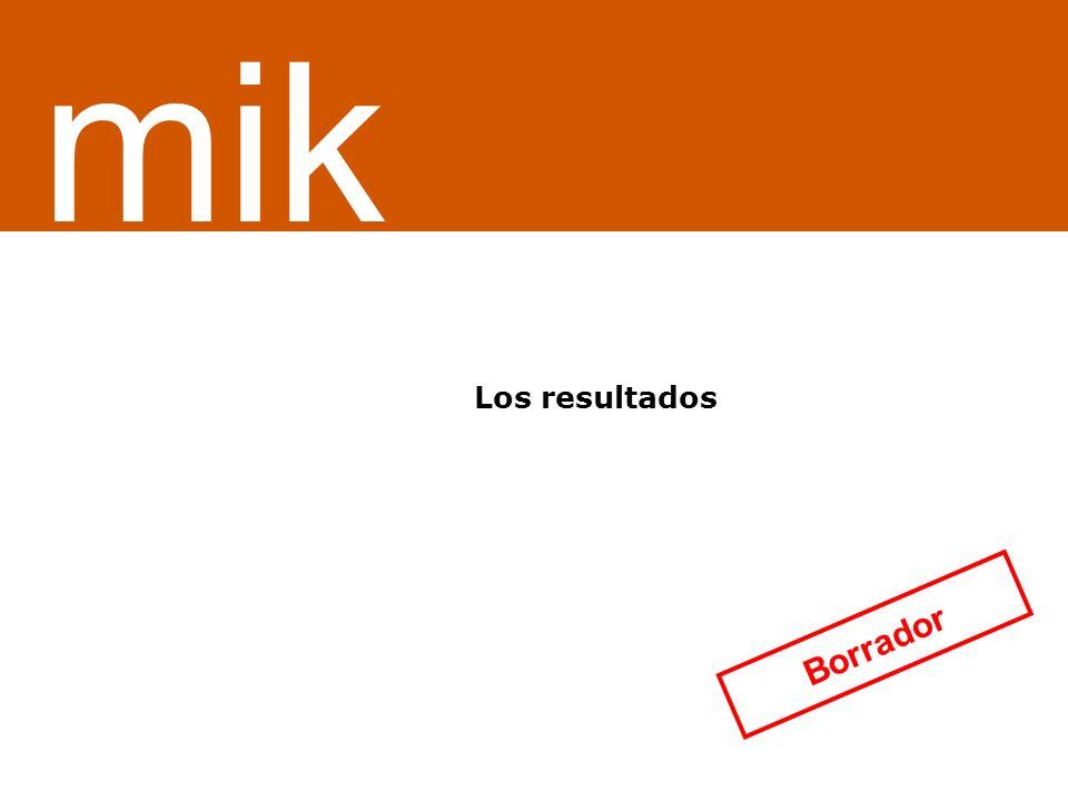 ¿Servicio o sistema de información Los resultados mik Borrador