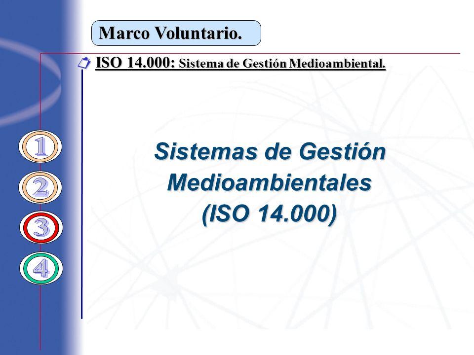 ISO 14.000: Sistema de Gestión Medioambiental. ISO 14.000: Sistema de Gestión Medioambiental. Sistemas de Gestión Medioambientales (ISO 14.000)