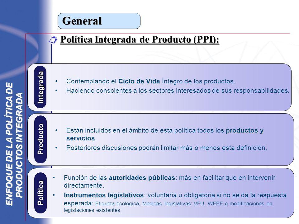 General Política Integrada de Producto (PPI): Política Integrada de Producto (PPI): autoridades públicasFunción de las autoridades públicas: más en fa