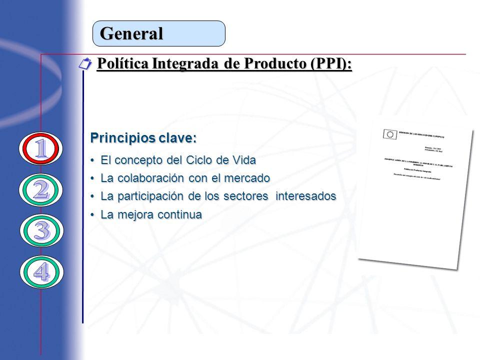 General Política Integrada de Producto (PPI): Política Integrada de Producto (PPI): Principios clave: El concepto del Ciclo de Vida El concepto del Ci
