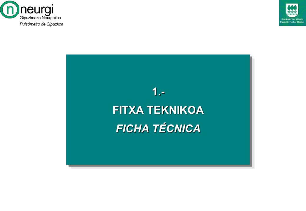 1.- FITXA TEKNIKOA FICHA TÉCNICA