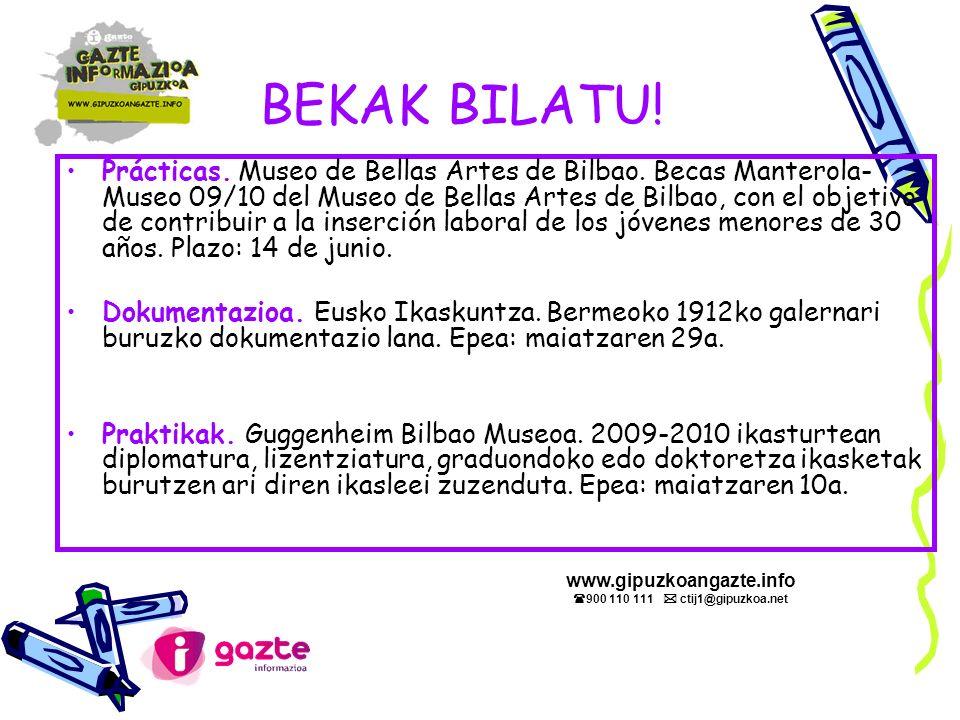 BEKAK BILATU. Prácticas. Museo de Bellas Artes de Bilbao.