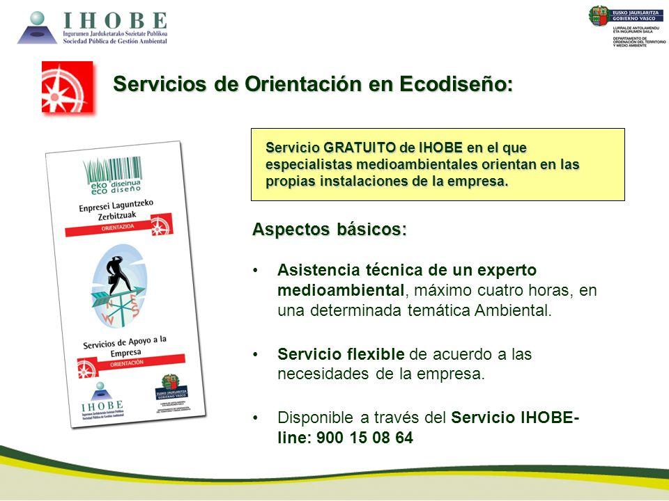 Servicio GRATUITO de IHOBE en el que especialistas medioambientales orientan en las propias instalaciones de la empresa. Aspectos básicos: Asistencia
