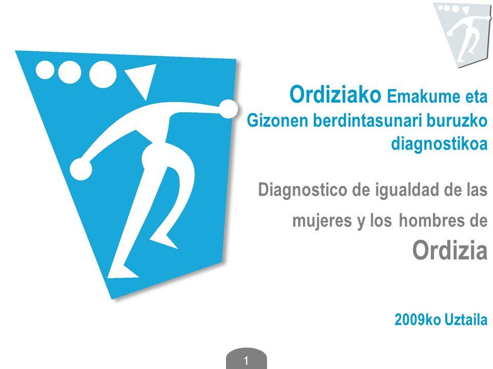 1 Ordiziako Emakume eta Gizonen berdintasunari buruzko diagnostikoa Diagnostico de igualdad de las mujeres y los hombres de Ordizia 2009ko Uztaila