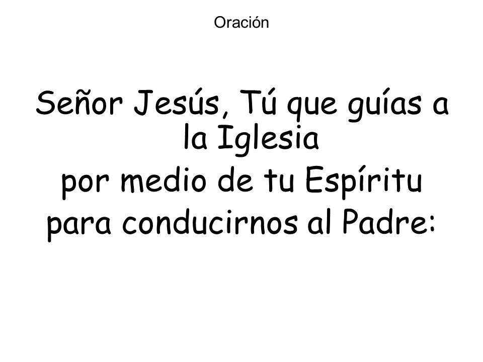 Oración Señor Jesús, Tú que guías a la Iglesia por medio de tu Espíritu para conducirnos al Padre: