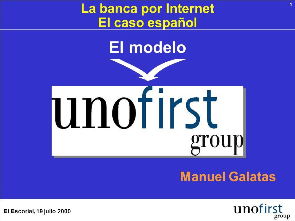 El Escorial, 19 julio 2000 1 El modelo Manuel Galatas La banca por Internet El caso español