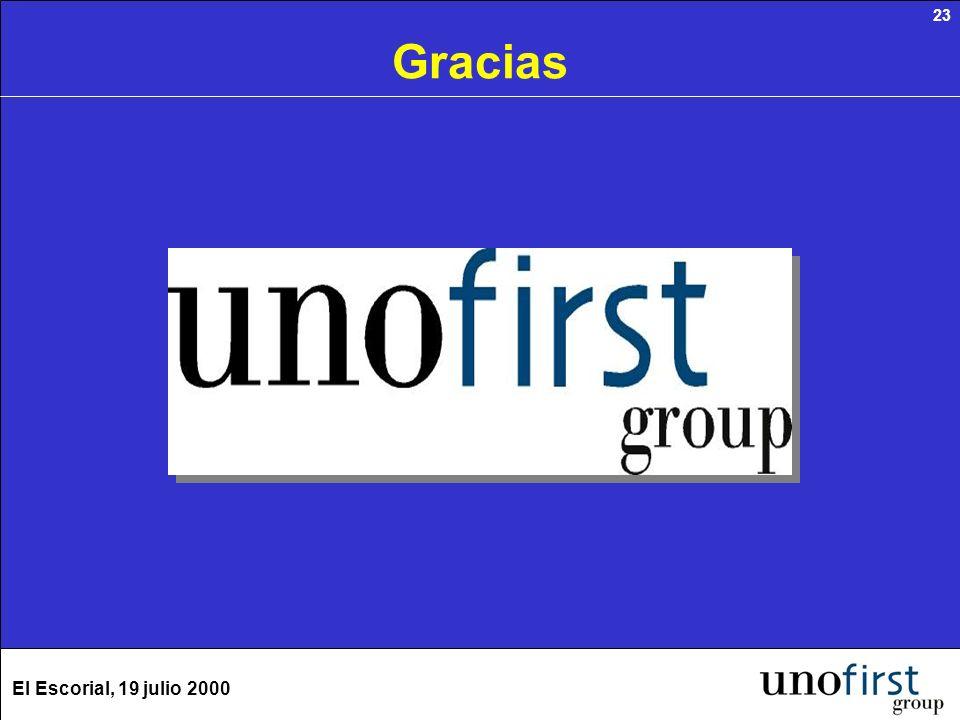 El Escorial, 19 julio 2000 23 Gracias