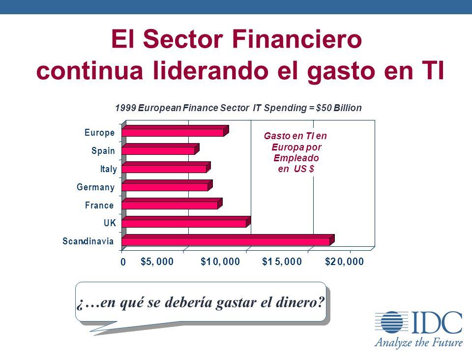 El Sector Financiero continua liderando el gasto en TI ¿…en qué se debería gastar el dinero?