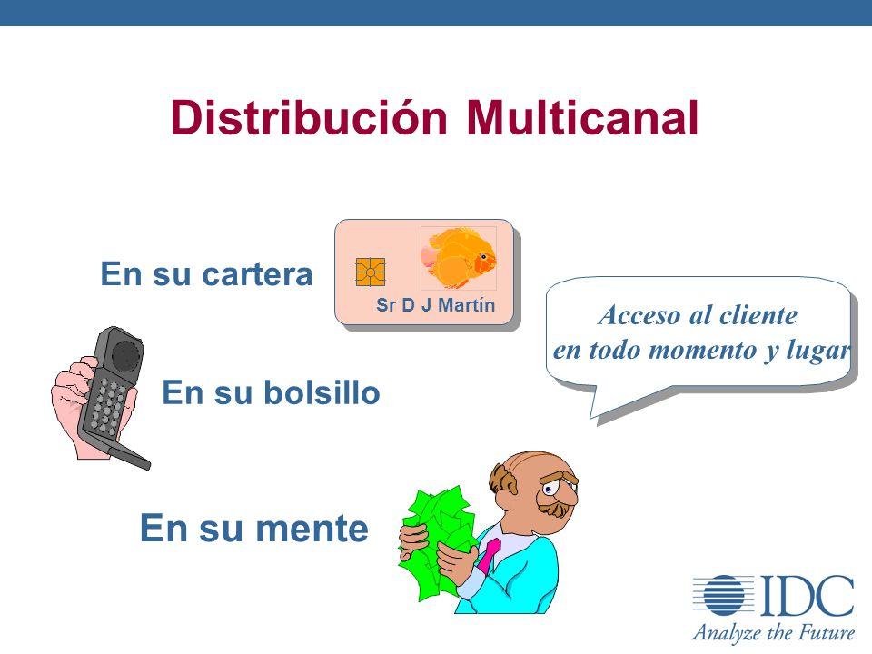 Distribución Multicanal Sr D J Martín En su cartera En su bolsillo En su mente Acceso al cliente en todo momento y lugar