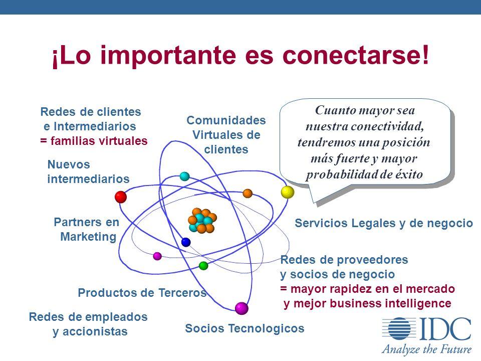 ¡Lo importante es conectarse! Cuanto mayor sea nuestra conectividad, tendremos una posición más fuerte y mayor probabilidad de éxito Socios Tecnologic
